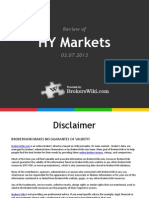 Review of HY Markets 2013