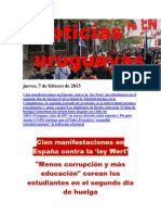 Noticias Uruguayas Jueves 7 de Febrero Del 2013