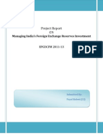 Managing India's Foreign Exchange Reserves Investment (1)