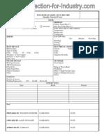 Welding Procedure Qualification Form
