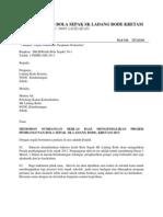 Surat Rasmi Memohon Sumbangan Sempena Projek Pembangunan Bola Sepak