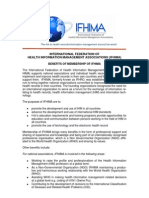 2011 - Benefits of IFHIMA Membership - Final
