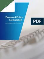 Password Policy Formulation Whitepaper