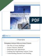 Green Project Risks