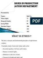 Ethics In Production/Operation Management