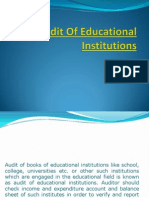 Audit of Educational Institutions