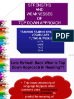 Strengths and Weaknesses of Top Down Approach
