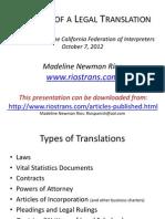 Anatomy of a Legal Translation
