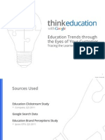 2012 Education Trends Through Eyes Learners