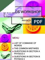 Physics Paper 3 Workshop