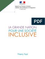 Rapport de Thierry Tuot sur la refondation des politiques d'intégration