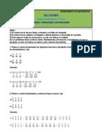 Examen-Unidad6-1ºESO-B-E operaciones con fracciones SOLUCIONES