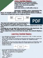 Learning basics of decibels