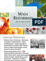 Lahirnya Reformasi Dan Indonesia Masa Reformasi