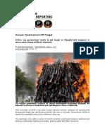 Kenyan Disarmament Off Target