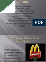 Scurt istoric al Companiei McDonald's