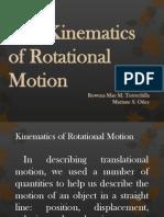 Marian's the Kinematics of Rotational Motion