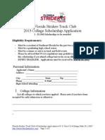2013 FSTC Scholarship Application