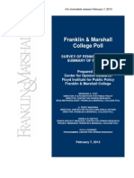 Franklin & Marshall Poll Feb. 13