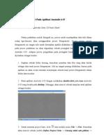 Proses Fotogrametri Pada Aplikasi Australis 6.05