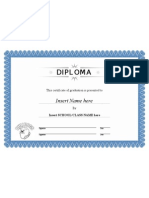 Diploma Bulldog a4