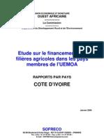 Uemoa Etude Financement Cotedivoire