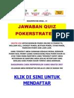 Jawaban Quiz Pokerstrategy