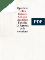 Agamben, Giorgio - 1993 - La Formula della Creazione