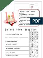 Teste Inglês 5ºano