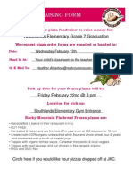 Pizza Fundraising Form Feb