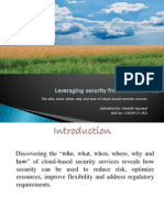 Leveraging Security From the Cloud(Shobhit Agrawal-12609121)