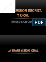 1.Transmision Escrita y Oral Pr. J. Claros 5 Feb