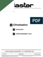 MASTER - Climatisation