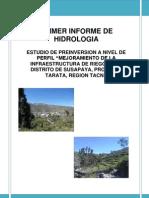 Primer Informe Hidrologia i 2013