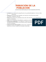 Distribuicion de La Poblacion