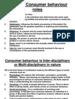 Different Consumer Behaviour Roles