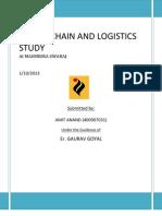 supply chain and logistics study at mahindra swaraj