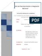 Auditoria Administrativa - El Pacifico