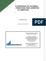El Sistema Pensional en Colombia Retos y Alternativas Para Aumentar La Cobertura 12 de Abril 2011