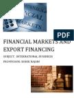 financial market and export financing