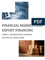 financial market and export financing