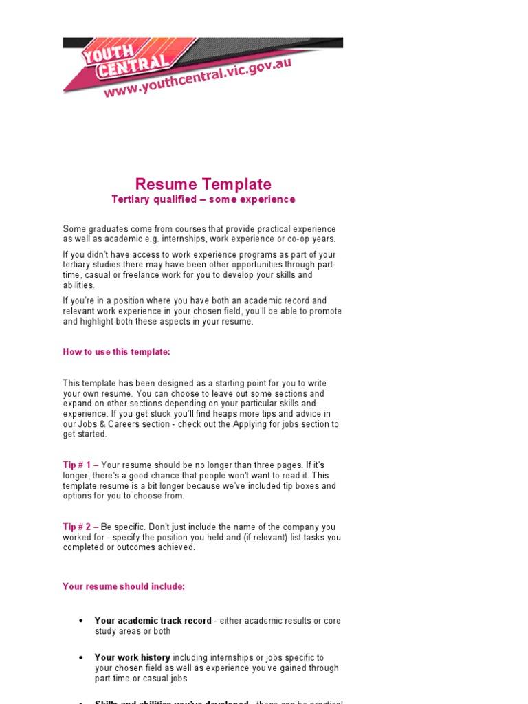 Example Resume Rsum Journalism