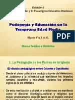 Pedagogía y pensamiento patrístico