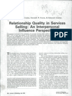 Relationship Quality in Services
