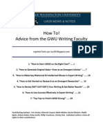 Eric Drown, editor, Writing Advice From GWU Faculty