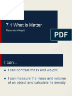 Mass and Weight Notes