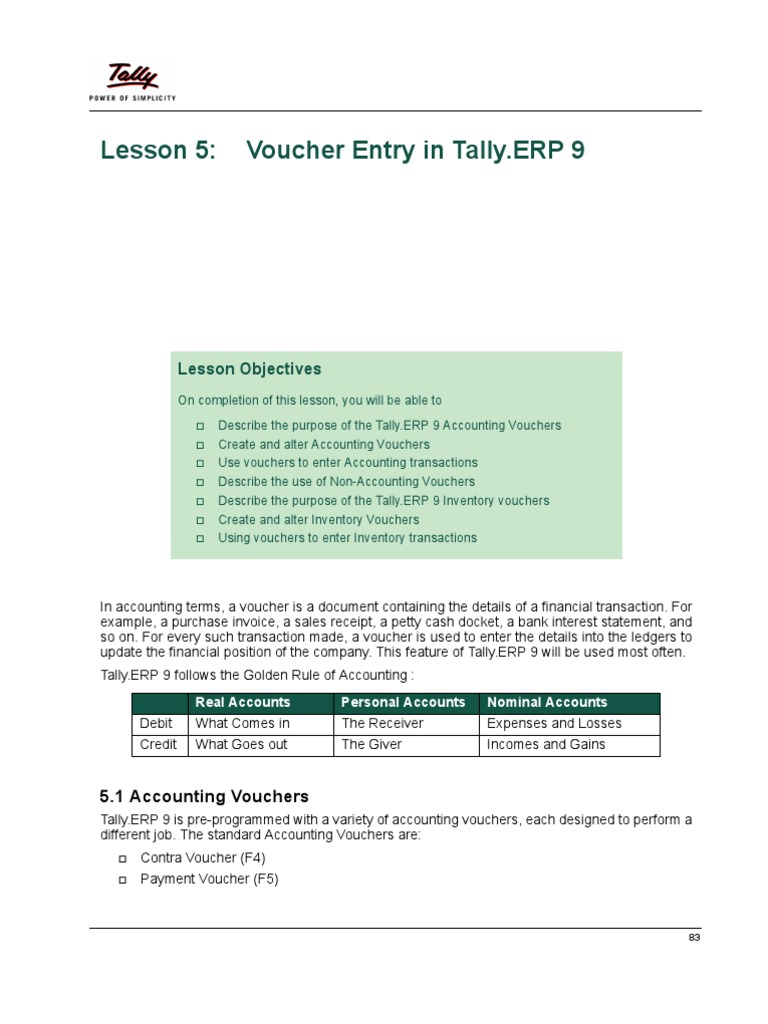 accounting voucher in tally erp 9 pdf
