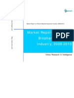 Market Report on China's Bio Pharmaceutical Industry, 2008-2010