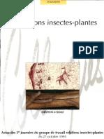 Insectes Plantes