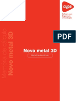 Novo Metal 3D Memoria de Calculo
